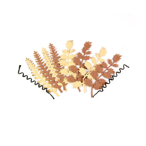 Ferns N Petals with Wire Twirls Des-2, 10pcs