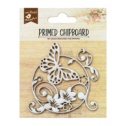 Chipboard Garden Butterflies 1pc PBCI Little Birdie