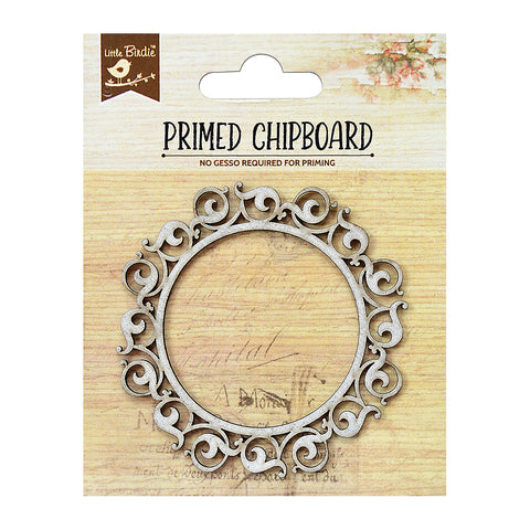 Chipboard Ornate Rounded Frame 1pc PBCI Little Birdie