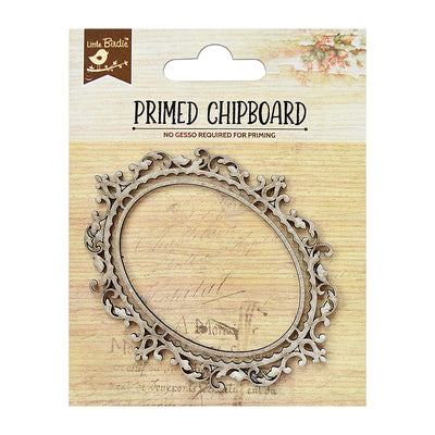 Chipboard Oval Frame 1pc PBCI Little Birdie