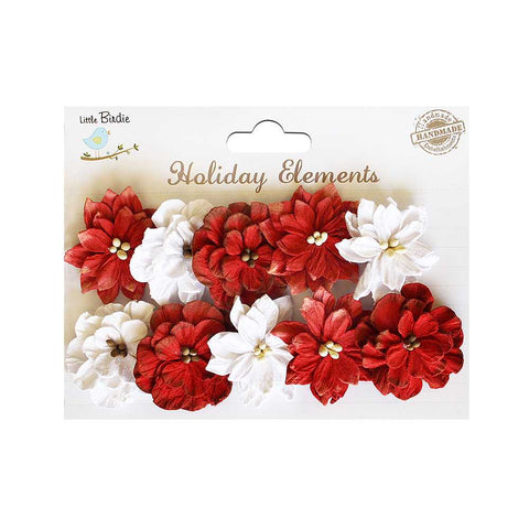 Christmas Serenade Blooms  Red & White 10pcs