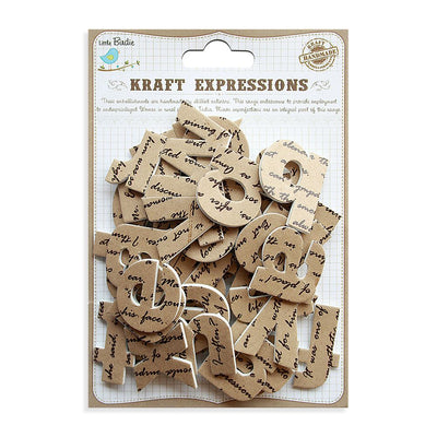 3D Kraft Alphabets Stickers - Lowercase, Script, 43pcs