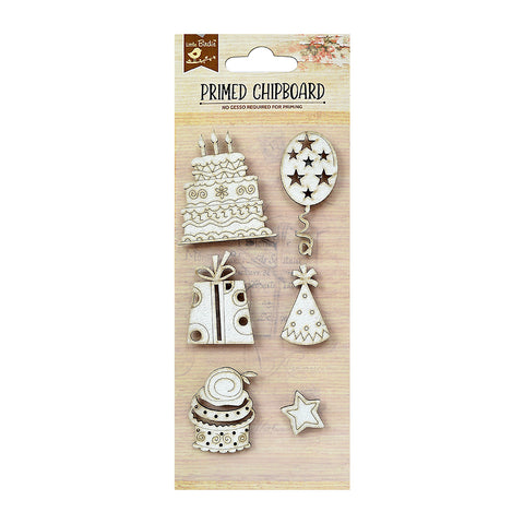 Chipboard  Birthday 6PC Little Birdie