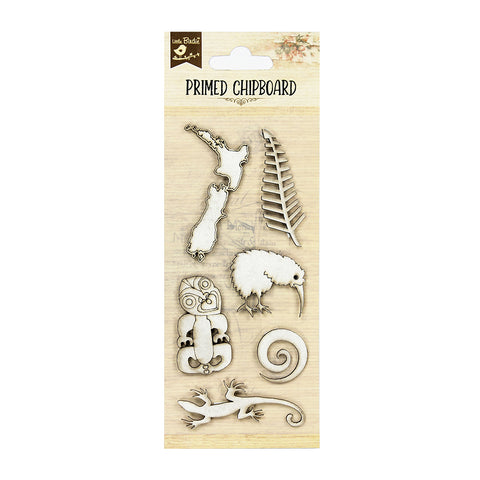 Chipboard - New Zealand Icons, 6pcs