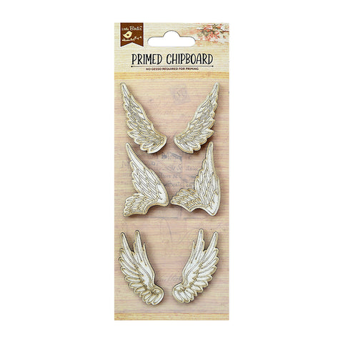 Chipboard Wings 6Pc PBCI Little Birdie