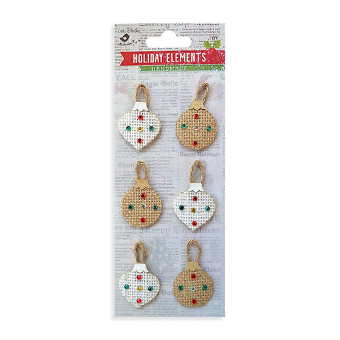 Self-adhesive Stickers - Christmas Burlap Bauble, 6pcs