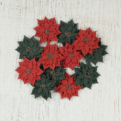 Christmas Star Paper Daisies 12pcs