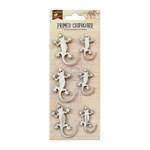 Primed Chipboard - Lizards, 6pcs