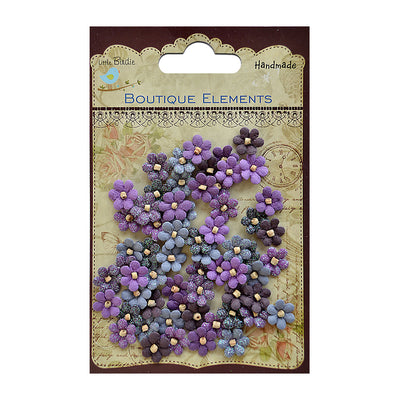 Beaded Micro Petals - Plum, 60pcs