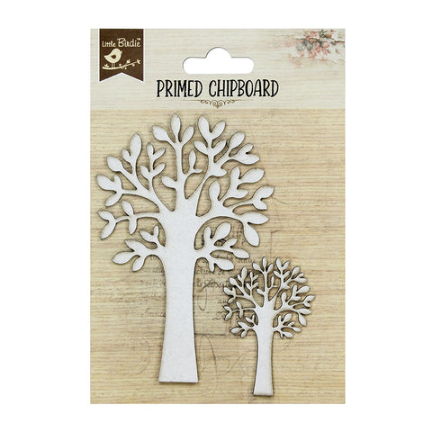 Chipboard  Tree with Leaves 2pcs