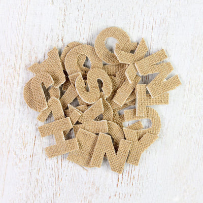 Burlap 3D Alphabets Stickers - Uppercase, 26pcs