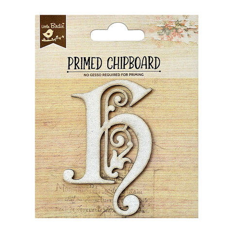 Chipboard Ornate Alpha H 1pc PBCI Little Birdie
