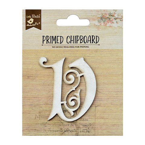 Chipboard Ornate Alpha V 1pc PBCI Little Birdie