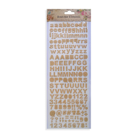 Alpha Numerals Glitter Stickers Shabby Chic 172pcs