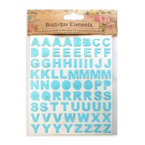 Glitter Alphabets Stickers Sheets Ocean Spray 2 Sheets 146pcs