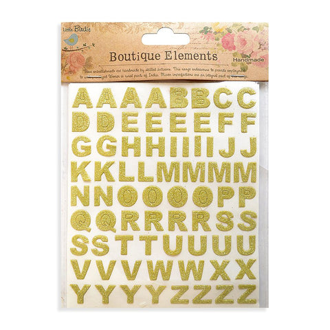 Glitter Alphabets Stickers Sheets French Carnival 2 Sheets 146pcs