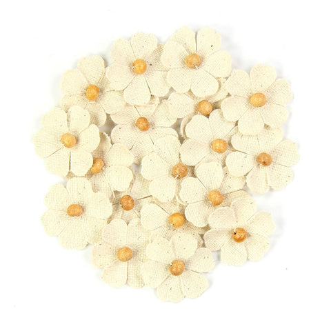 Canvas Beaded Thin Fancies - Natural, 18pcs