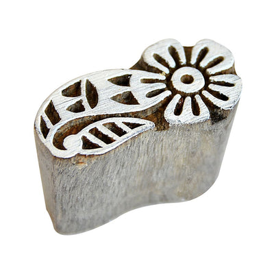 Hand Carved Wooden Printing Block - Blooming Delight, 1pc