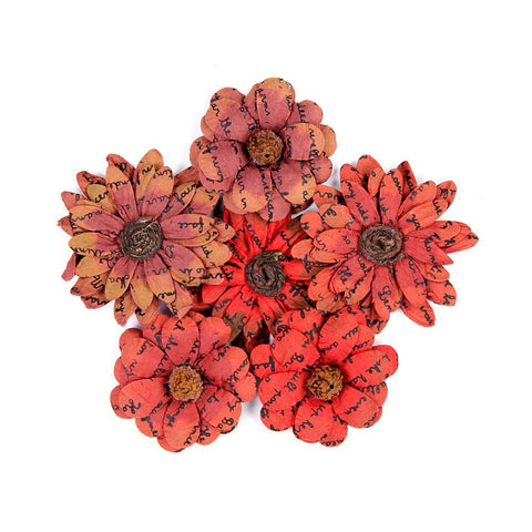 Vintage Phoebe Petals Cherry Red 6pcs