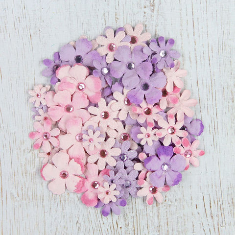 Handmade Flower Jewel Flowers - Blushed Nudes, 72pcs