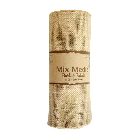 Burlap Fabric 2mt x 16 inch Natural 2.19 yard
