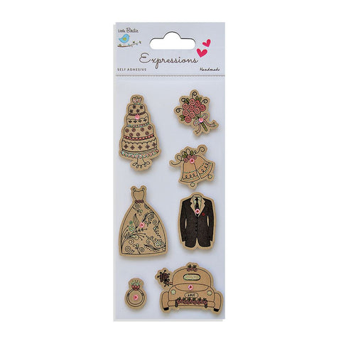 Kraft Embellishments-   Wedding Bells, 7pcs