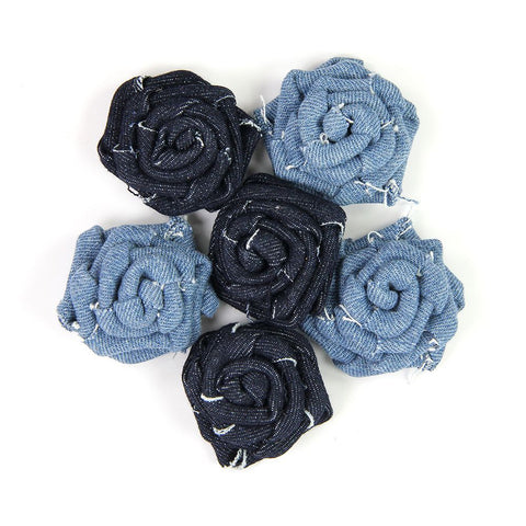 Denim English Roses 6Pc PBCI Little Birdie