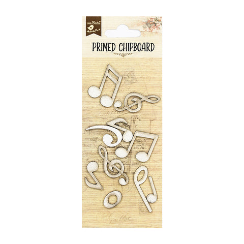 Chipboard Musical Notes 10Pc PBCI Little Birdie
