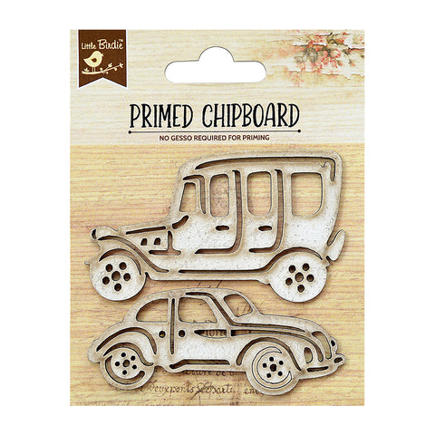 Chipboard Car 1pc PBCI Little Birdie