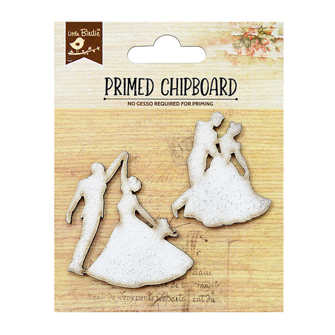 Primed Chipboard - Wedding Couples, 2pcs