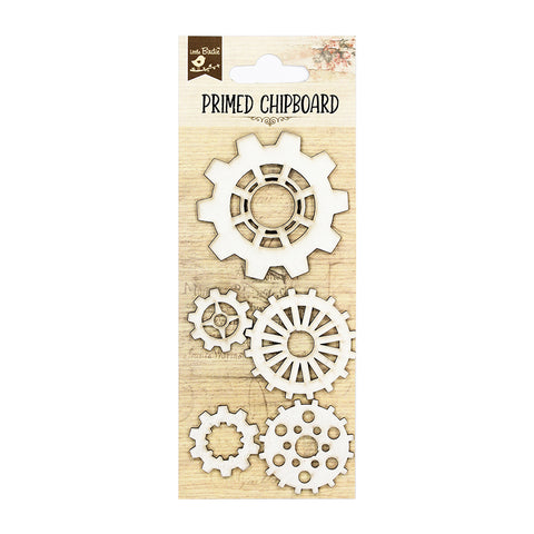 Chipboard Cogs 5Pc