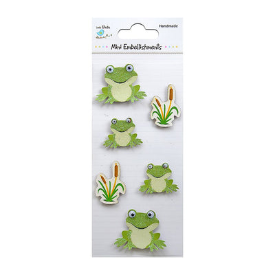 Self adhesive Stickers - Frogs, 6pcs