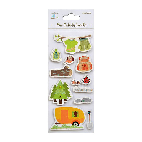 Self adhesive Stickers - Camping In The Woods, 12pcs