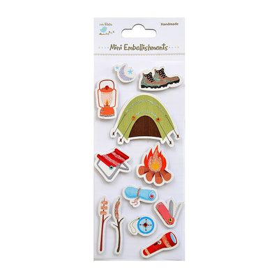 Self adhesive Stickers - Let Us Go Camping, 12pcs
