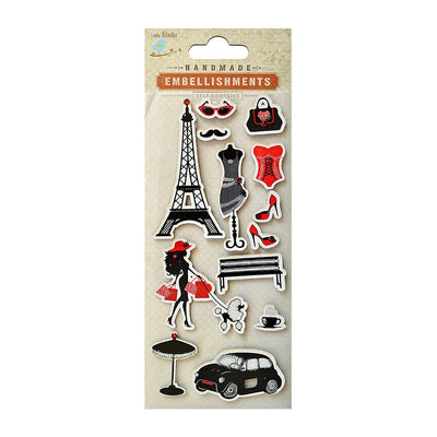 Self adhesive Stickers - An Evening In Paris, 13pcs