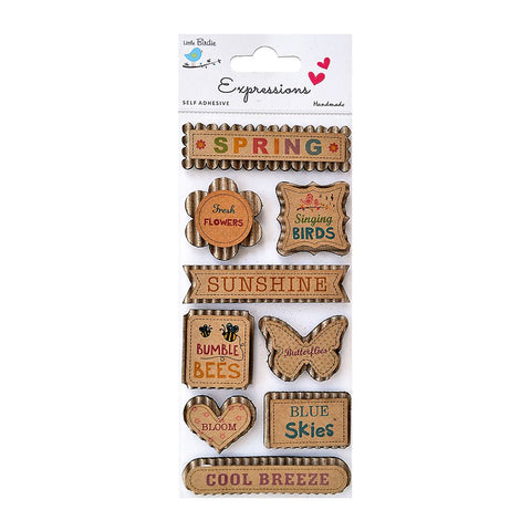 Corrugated Spring Time 9Pc Expressions