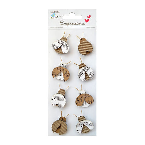 Corrugated & Printed Kraft Lady Bugs 8pcs