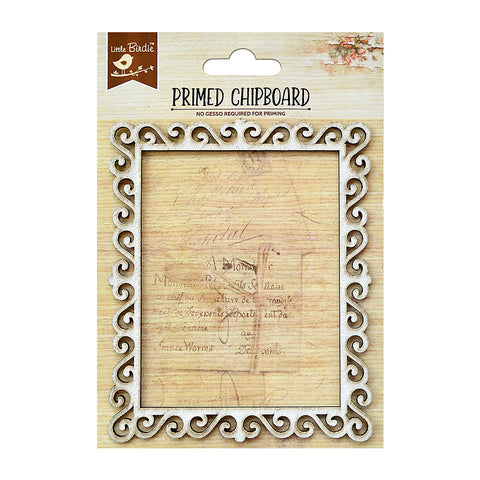 Rectangle Frame 1pc Chipboard