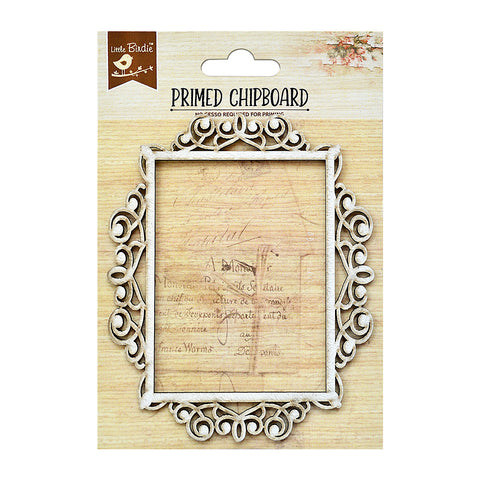 Ornate Rectangle Frame 1pc Chipboard