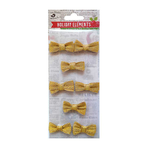 Bitty Bows 12mm Gold 8pcs