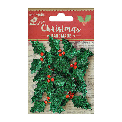 Holly Jolly - Green Glitter, 12Pc