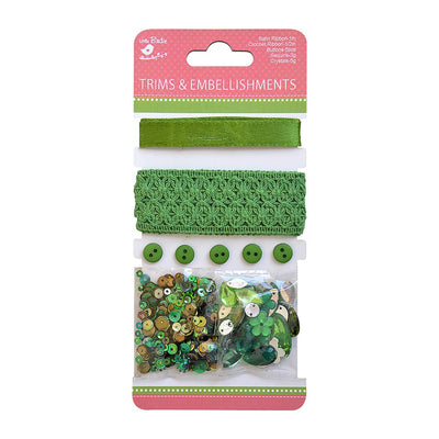 Trims & Embellishments- Green