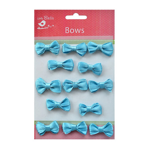 Bitty Bows 3cm Blue 13pcs