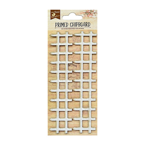 Chipboard Picket Fence 2pc Little Birdie