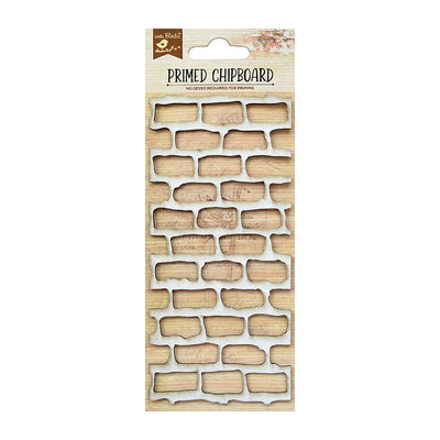 Chipboard Brick Wall 1pc Little Birdie