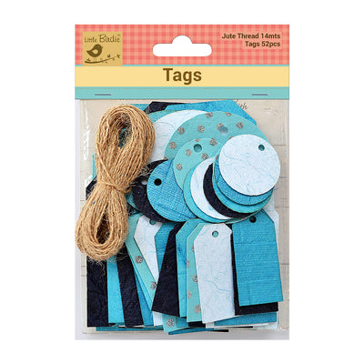 Asset Tags With Jute Twine 14m Blue 52Pc Walmart