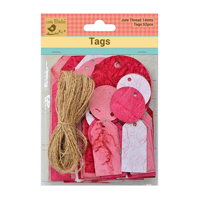 Asset Tags With Jute Twine 14m Pink 52Pc Walmart