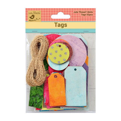 AsstdTags With Jute Twine 14m Asstd Color 52Pc Walmart