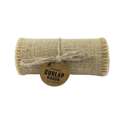 Burlap Ribbon Roll -12cm x 2mtr, Natural Little Birdie