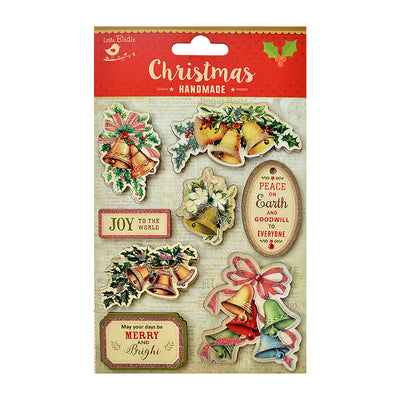 Vintage Christmas Embellishments - Jingle Bells, 8Pc